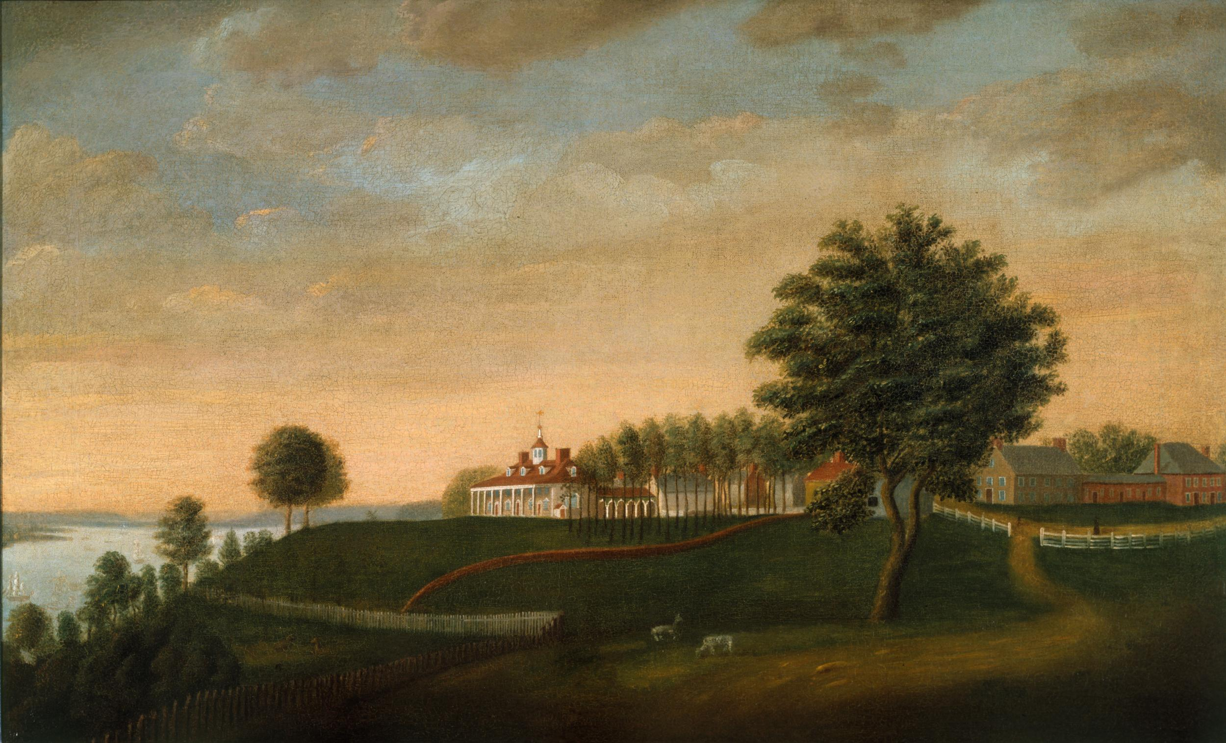East Front of Mount Vernon attributed to Edward Savage (MVLA)