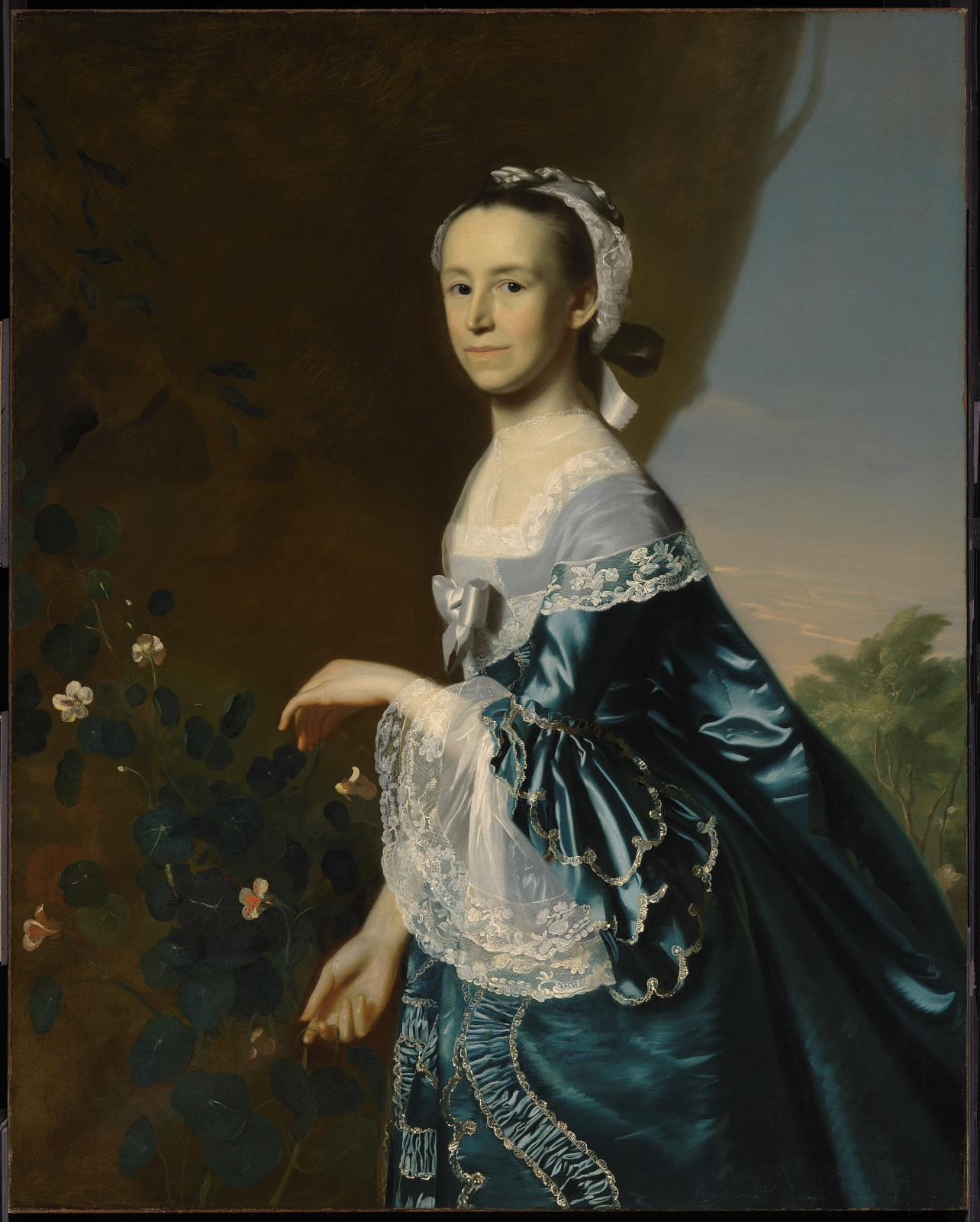 Mercy Otis Warren sat for artist John Singleton Copley about 1763. Boston Museum of Fine Arts.