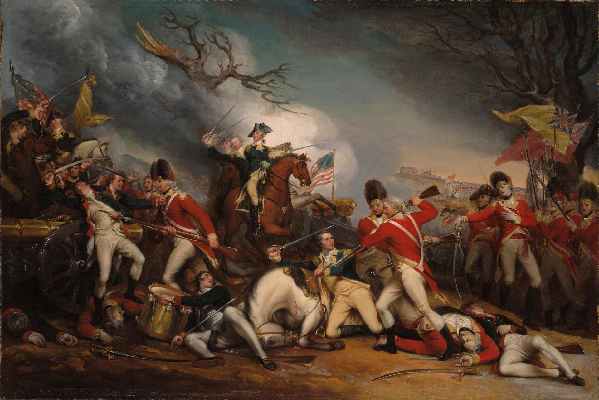 The Death of General Mercer at the Battle of Princeton by John Trumbull (Yale University Art Gallery)