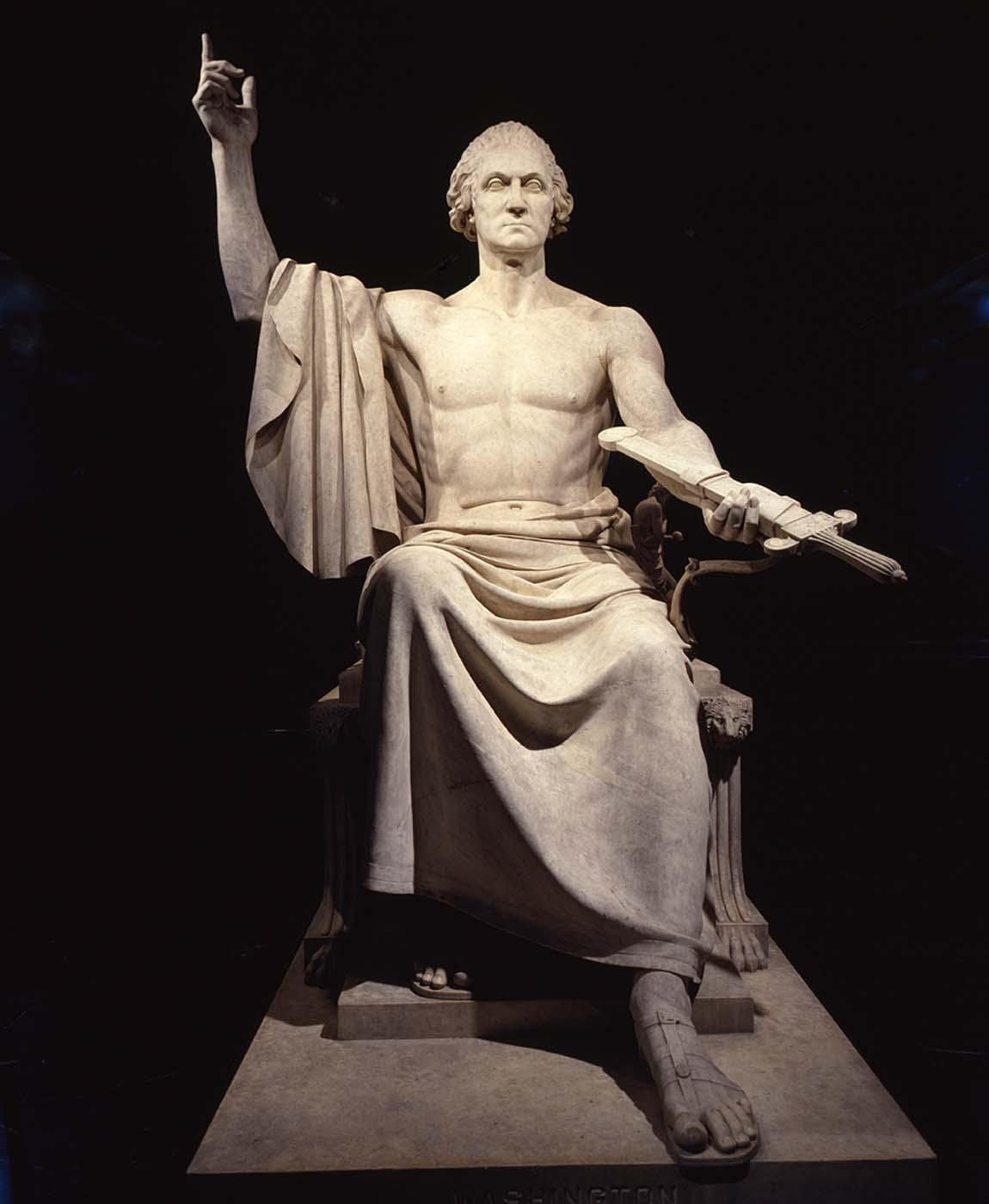Sculpture of George Washington by Horatio Greenough (Smithsonian)