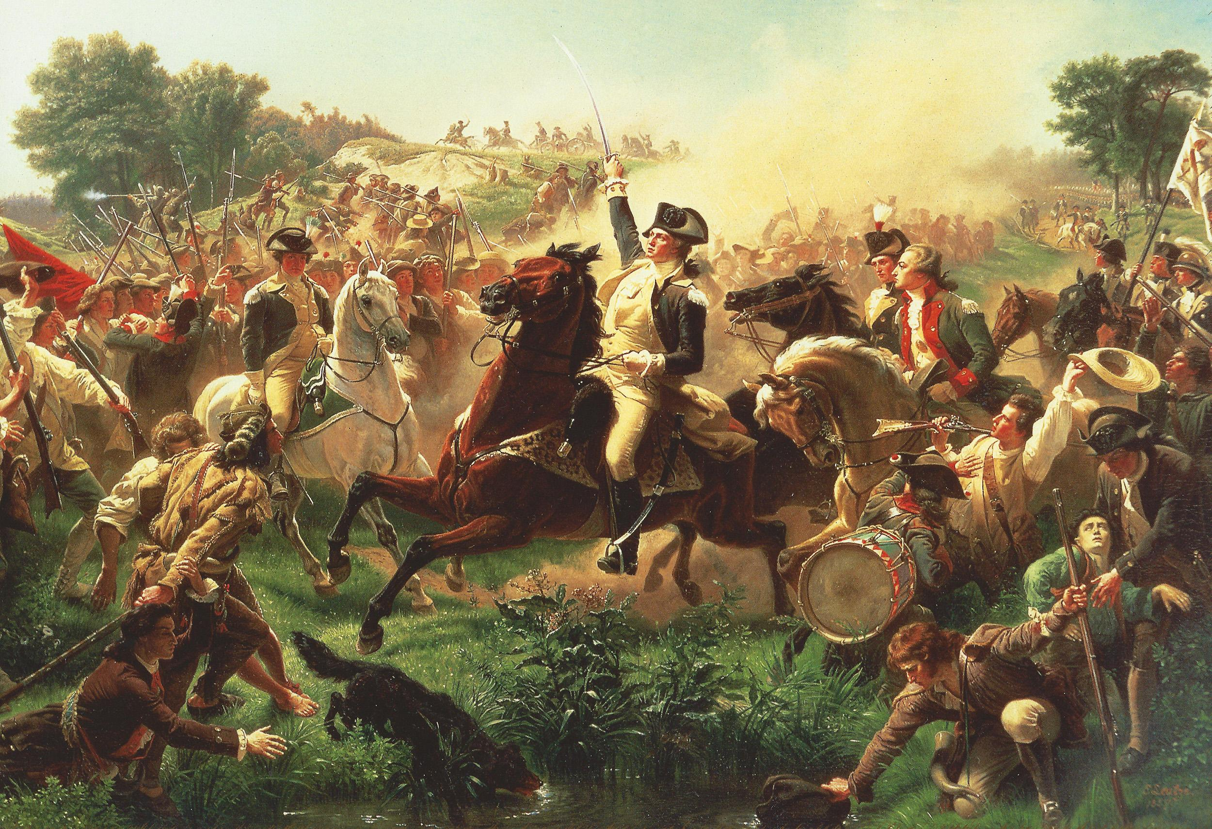 George Washington at the Battle of Monmouth (Emanuel Leutze - 1857 - from the collection of the Monmouth County Historical Association)