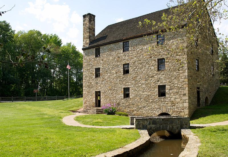 George Washington's reconstructed gristmill.