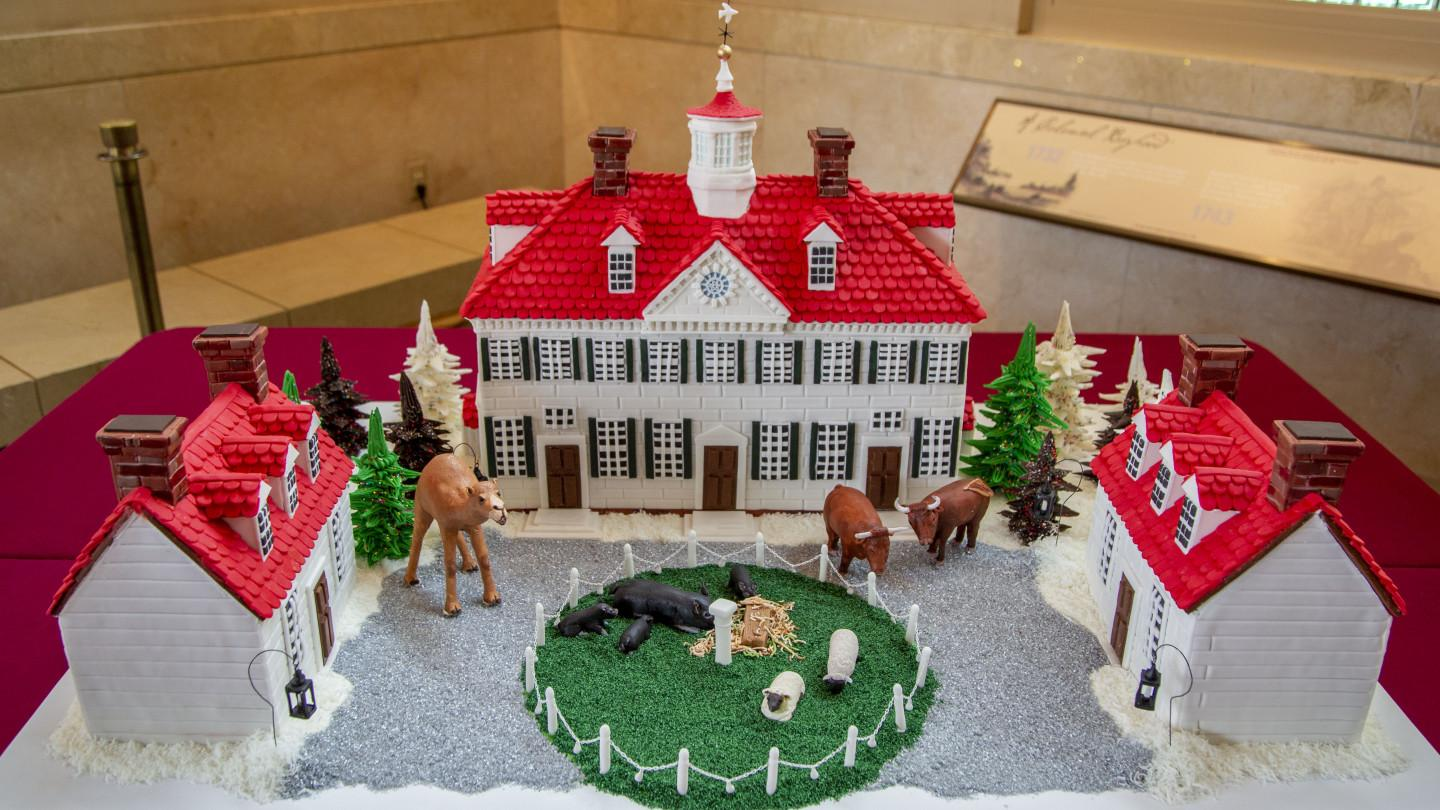 View A Gingerbread Mount Vernon Mansion George Washington S Mount Vernon